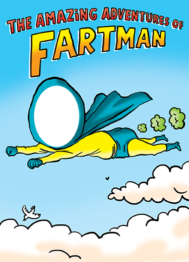 Fartman FD Father's Day Card Cover