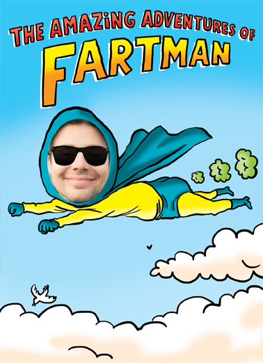 Fartman Birthday Card Cover