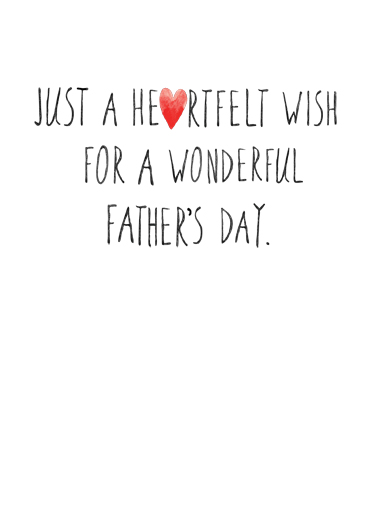 Father's Day Hearts Father's Day Card Inside