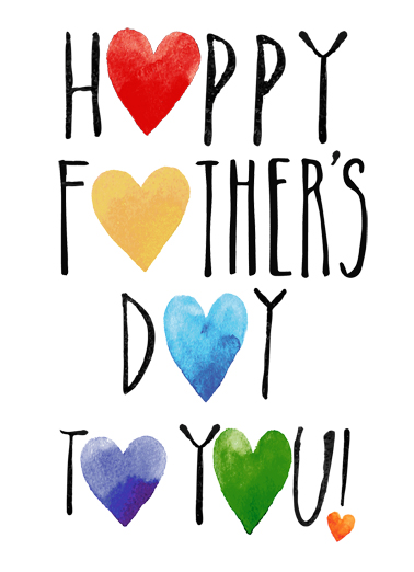 Father's Day Hearts Father's Day Card Cover