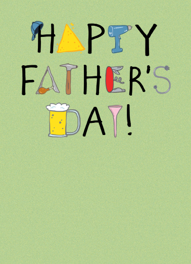 Fathers Day Things Father's Day Card Cover