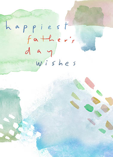 Fathers Day Watercolor Father's Day Card Cover