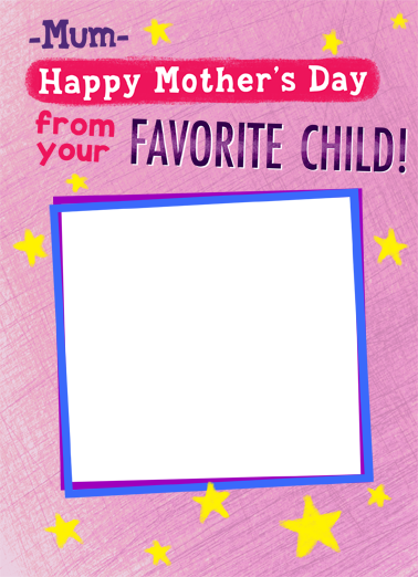 Favorite Child Mum Mother's Day Ecard Cover