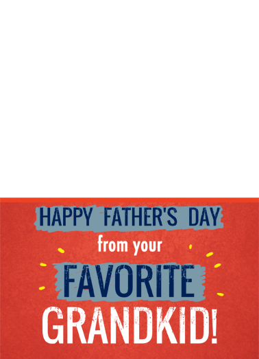Favorite Grandkid Father's Day Card Cover