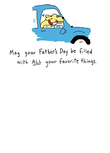 Favorite Things fd Father's Day Card Inside