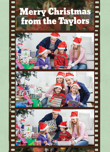 Fun Add Your Photo Christmas Cards and Flats Film Strip Add your photo personalized christmas card. | photograph photography picture pic pix move merry holiday