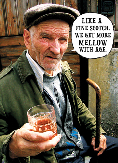 Fine Scotch Birthday Card Cover