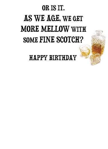Fine Scotch Birthday Card Inside