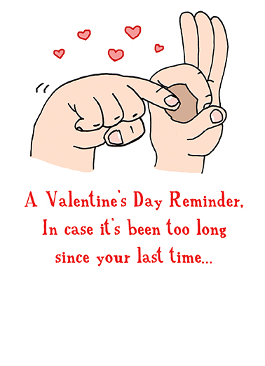 Fingers Valentine's Day Ecard Cover
