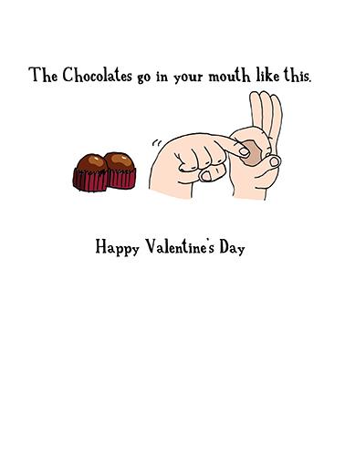 Fingers Valentine's Day Ecard Inside