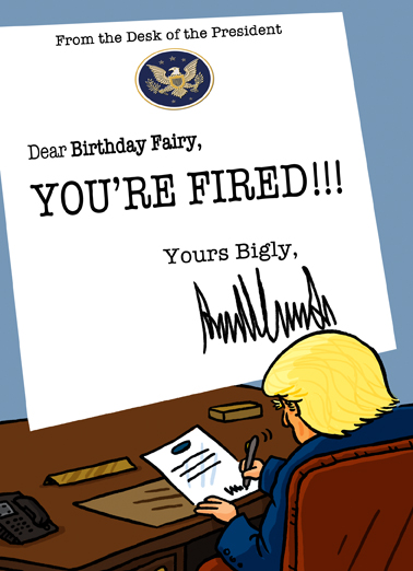 Fired Birthday Card Cover