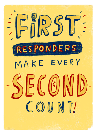 First Responders Get Well Card Cover