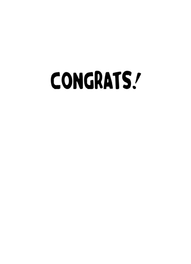 Fist Bump Congrats Congratulations Card Inside