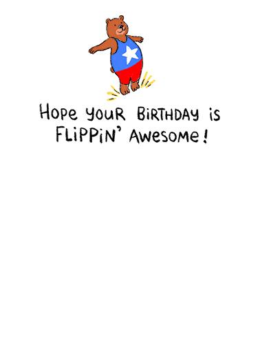 Flippin' Awesome Birthday Card Inside