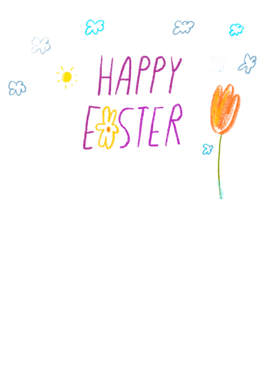 Floral Blessings Easter Card Inside