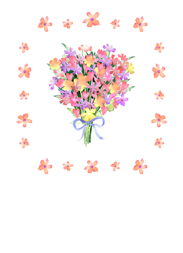 Floral Bouquet Thank You Ecard Cover