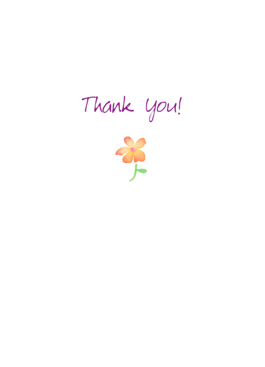Floral Bouquet Thank You Ecard Inside