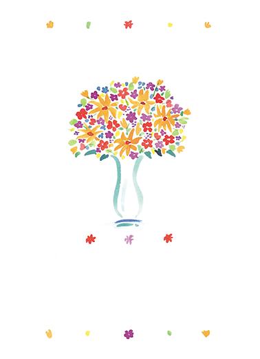 Flower Vase Mother's Day Ecard Cover