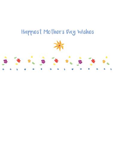 Flower Vase Mother's Day Ecard Inside