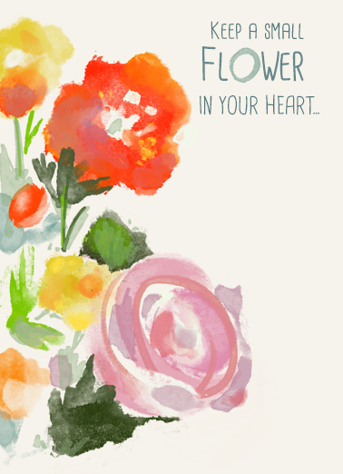 Flower in your Heart  Card Cover