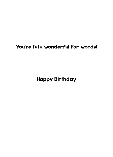 For Words Birthday Ecard Inside