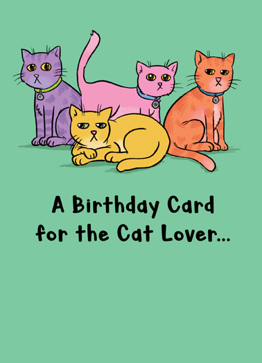 For the Cat Lover  Ecard Cover