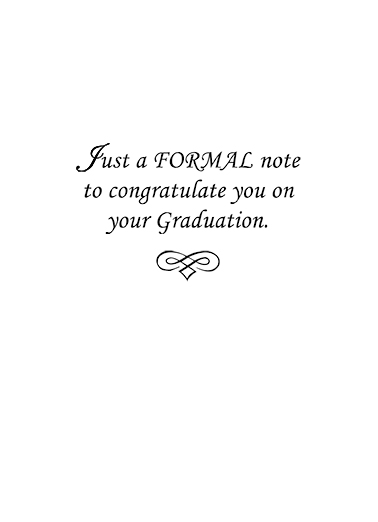 Formal Grad Graduation Ecard Inside