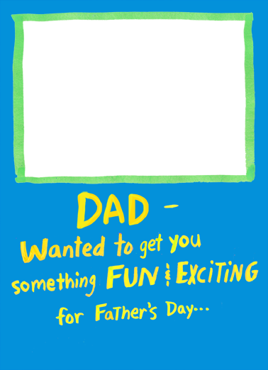 Fun and Exciting Dad Father's Day Card Cover
