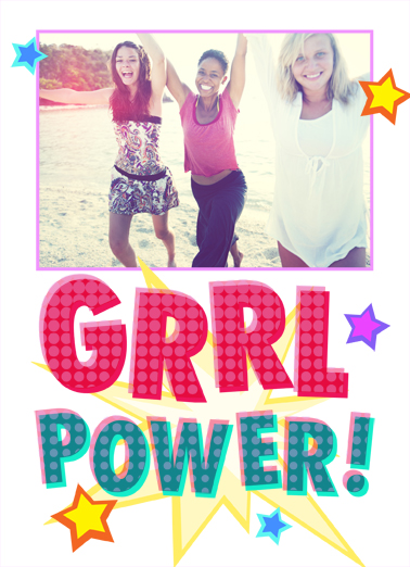 GRRL Power Birthday Card Cover