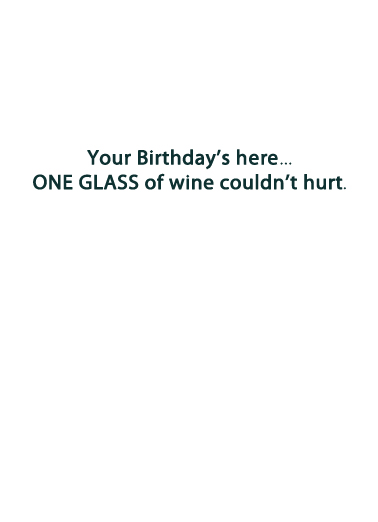 Giant Glass Birthday Card Inside