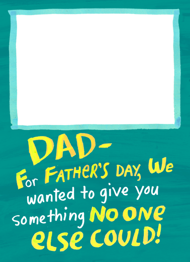 Give Dad Something Father's Day Card Cover