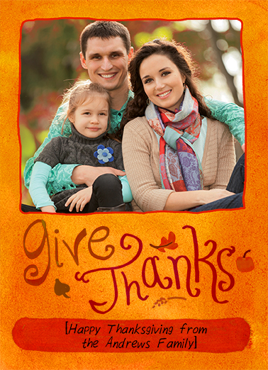 Give Thanks  Card Cover