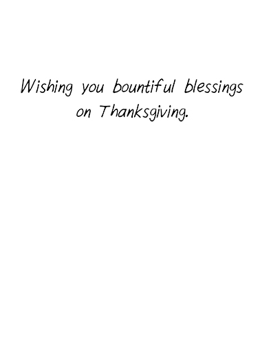 Give Thanks  Card Inside