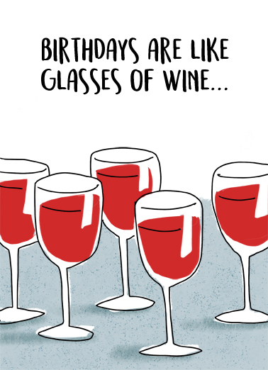 Glasses Of Wine Wine Ecard Cover