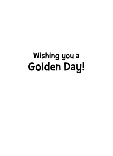 Golden Dog Cute Animals Card Inside
