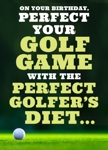 Golf Diet Birthday Card Cover