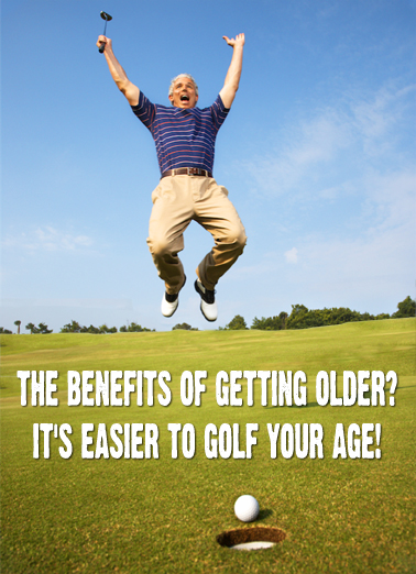 Golf Your Age Birthday Card Cover
