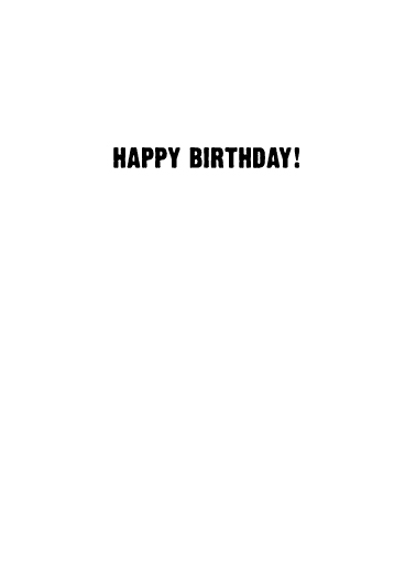 Golf Your Age Birthday Card Inside