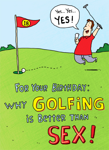 Golf is Better Birthday Card Cover