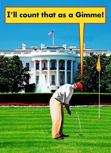 Golfer in Chief Funny Political Ecard Cover