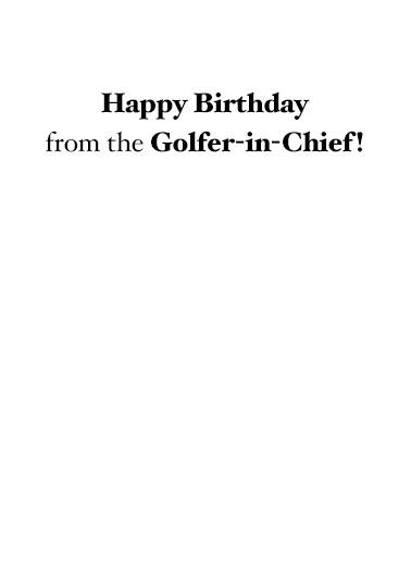 Golfer in Chief Funny Political Ecard Inside