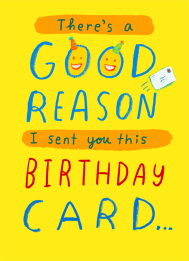 Good Reason Birthday Card Cover