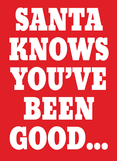 Goodish Christmas Card Cover