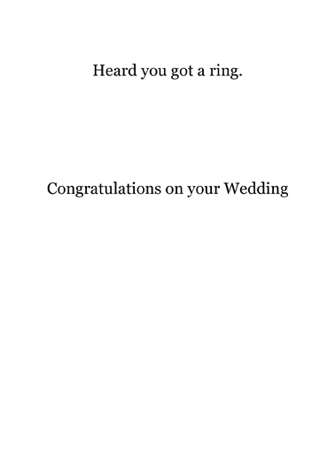 Got A Ring Vintage Ecard Inside