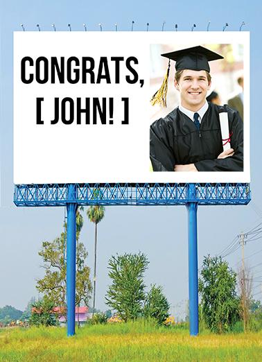 Grad Billboard Graduation Card Cover
