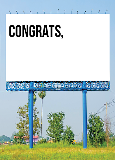 Grad Billboard Graduation Ecard Cover