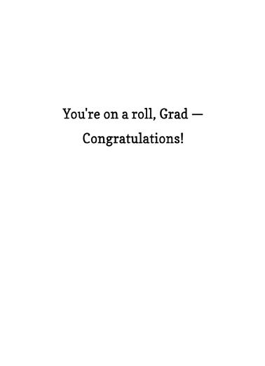 Grad Gets TP Graduation Ecard Inside
