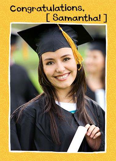 Grad Portrait Graduation Card Cover