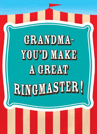Grandma Ringmaster  Ecard Cover