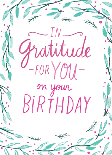 Gratitude for Your Birthday Uplifting Cards Card Cover